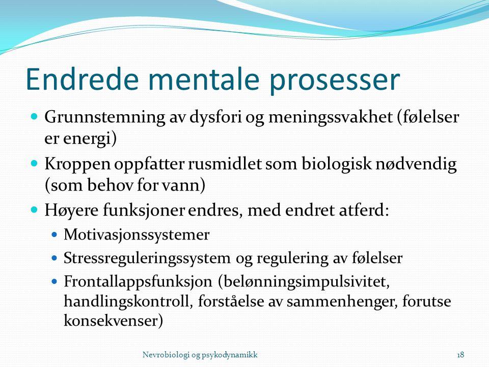 Endrede mentale prosesser