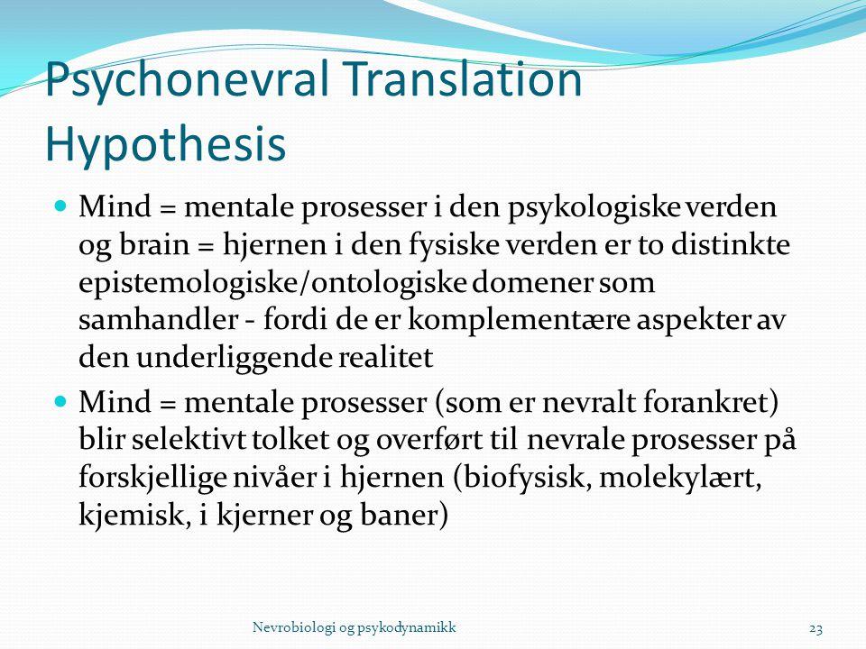 Psychonevral Translation Hypothesis