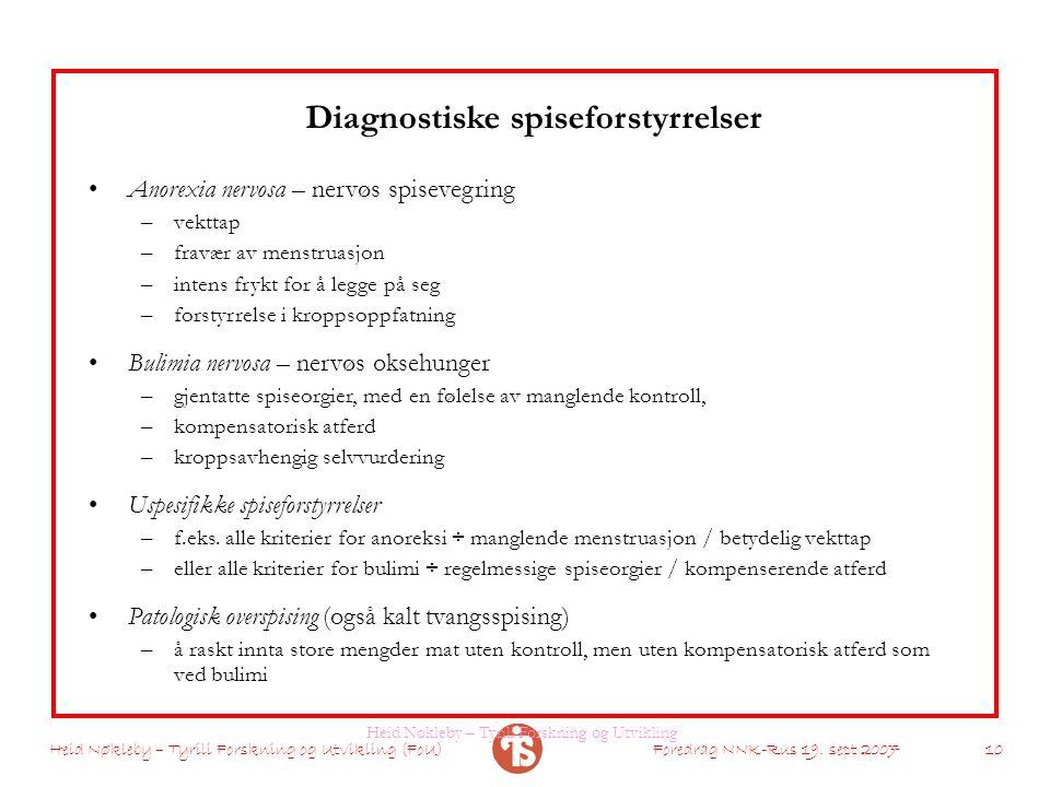 Diagnostiske spiseforstyrrelser