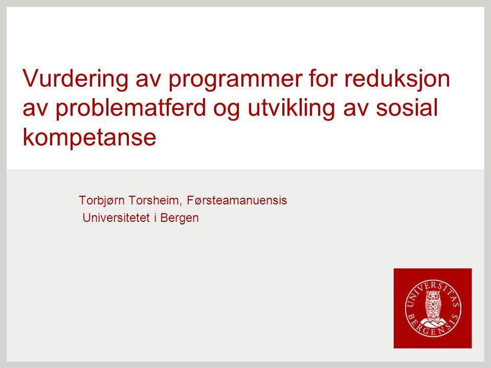 Torbjørn Torsheim, Førsteamanuensis Universitetet i Bergen