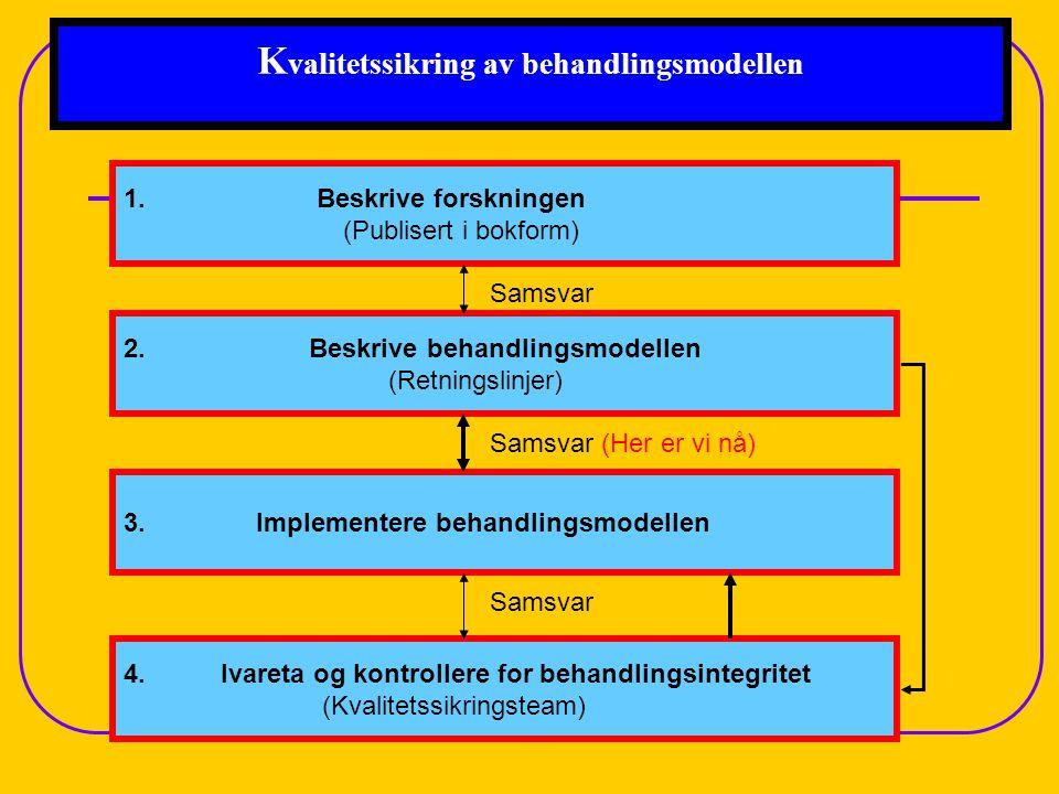 Kvalitetssikring av behandlingsmodellen