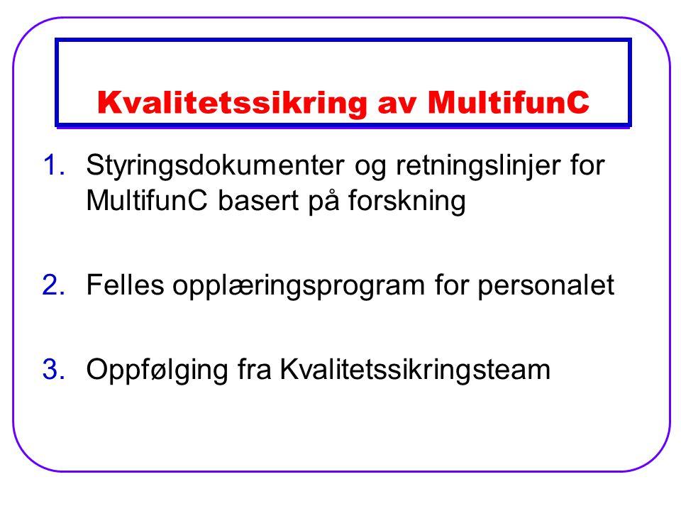 Kvalitetssikring av MultifunC