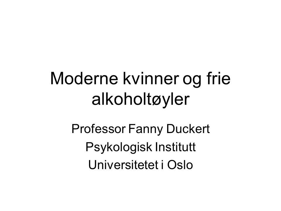 Moderne kvinner og frie alkoholtøyler