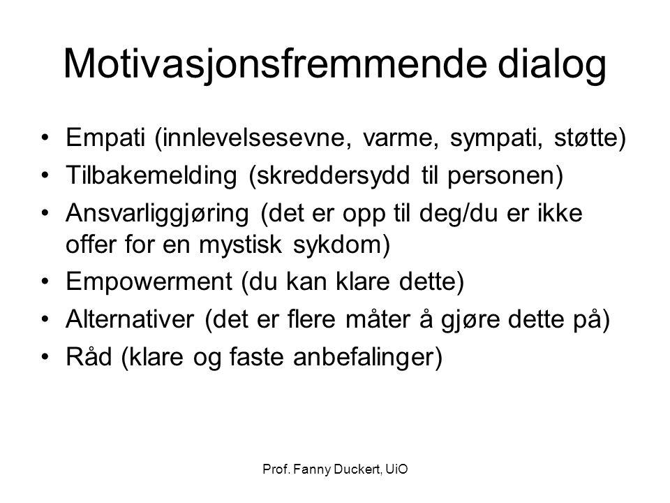 Motivasjonsfremmende dialog