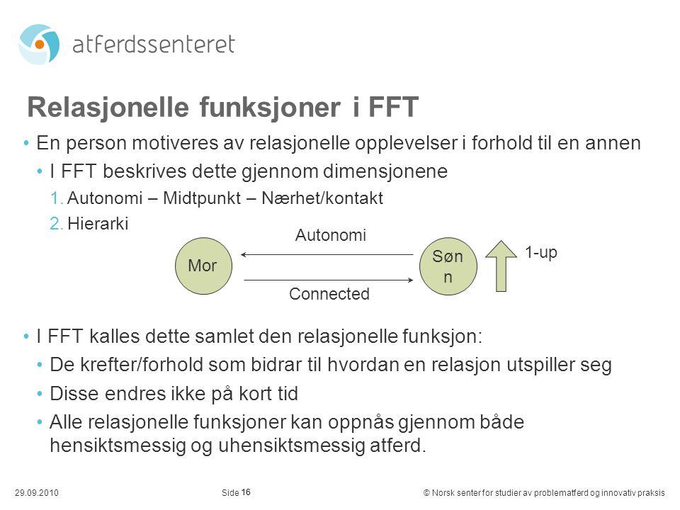 Relasjonelle funksjoner i FFT