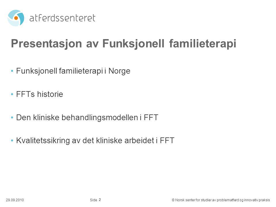 Presentasjon av Funksjonell familieterapi