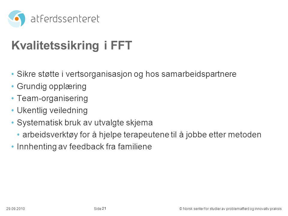 Kvalitetssikring i FFT