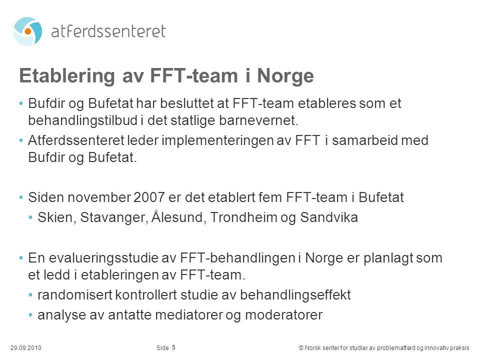 Etablering av FFT-team i Norge