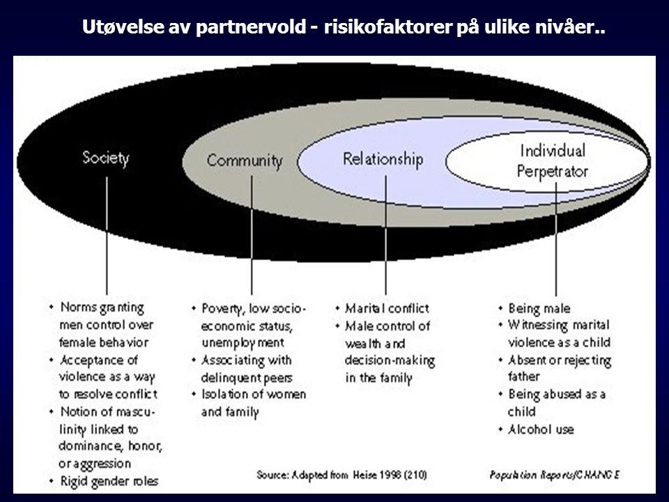 Utøvelse av partnervold - risikofaktorer på ulike nivåer..