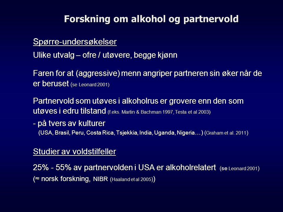 Forskning om alkohol og partnervold
