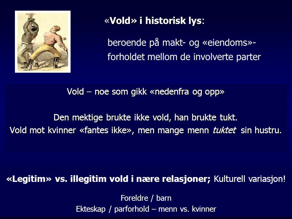 «Vold» i historisk lys: