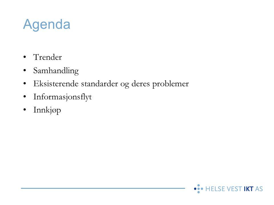 Agenda Trender Samhandling Eksisterende standarder og deres problemer