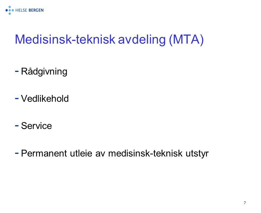 Medisinsk-teknisk avdeling (MTA)