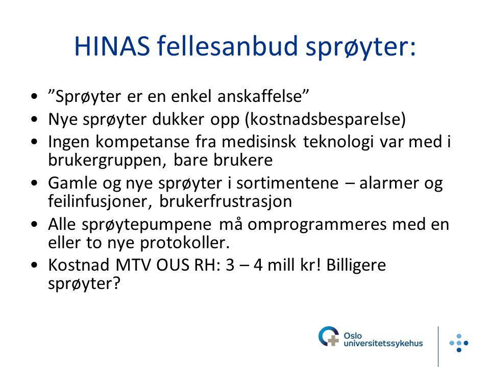 HINAS fellesanbud sprøyter: