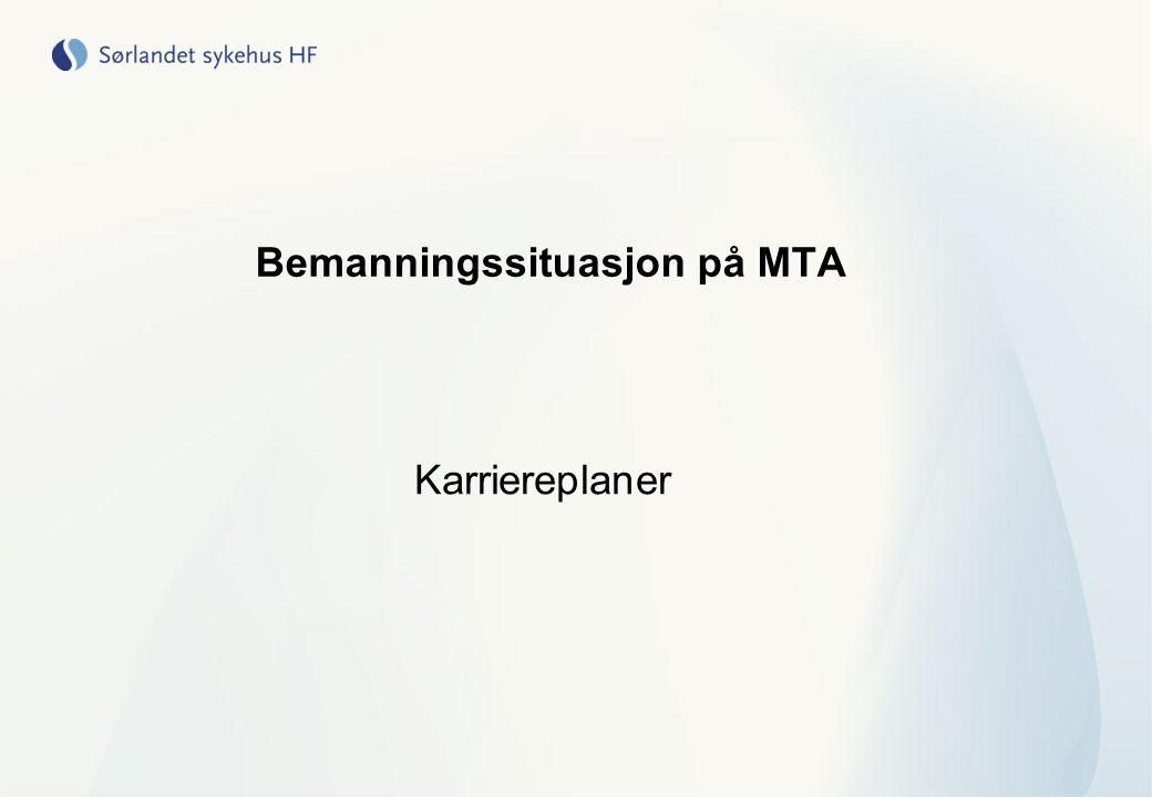 Bemanningssituasjon på MTA