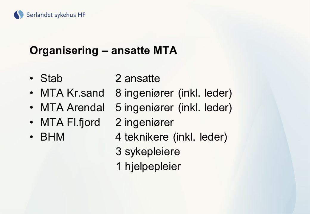 Organisering – ansatte MTA