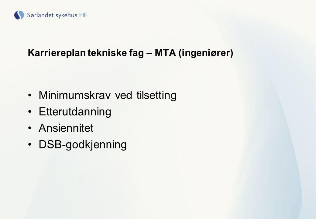 Karriereplan tekniske fag – MTA (ingeniører)