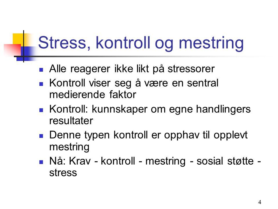 Stress, kontroll og mestring