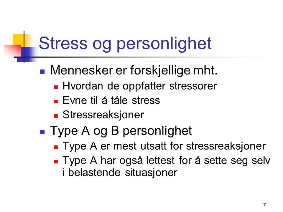 Stress og personlighet