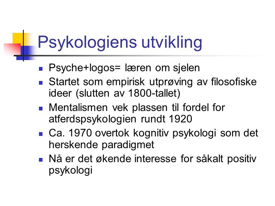 Psykologiens utvikling