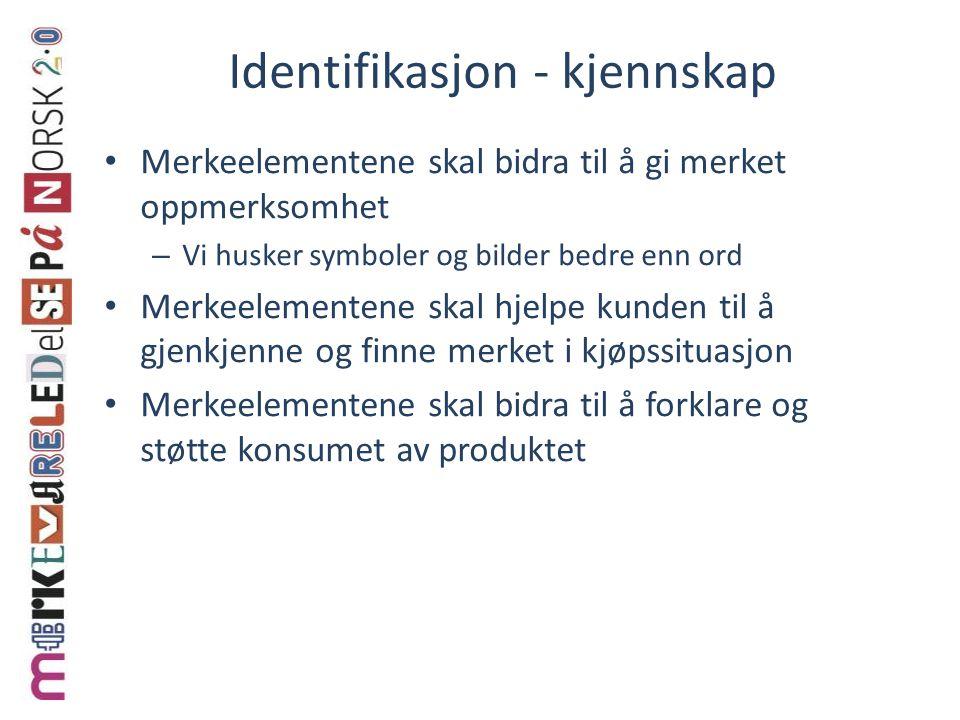 Identifikasjon - kjennskap