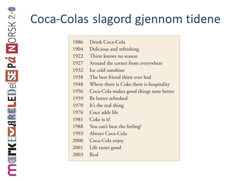Coca-Colas slagord gjennom tidene
