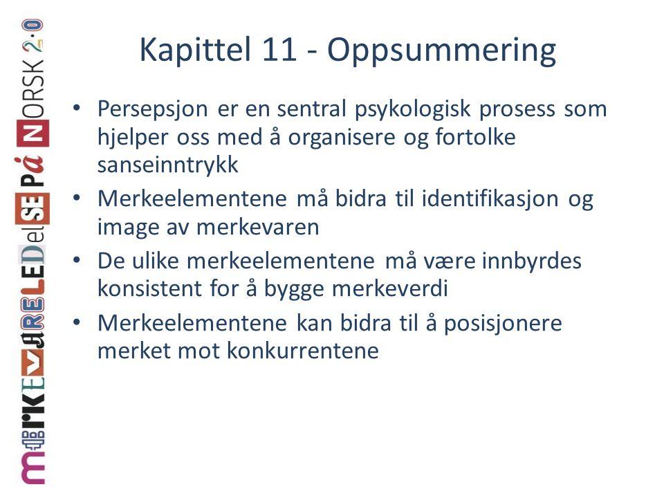 Kapittel 11 - Oppsummering