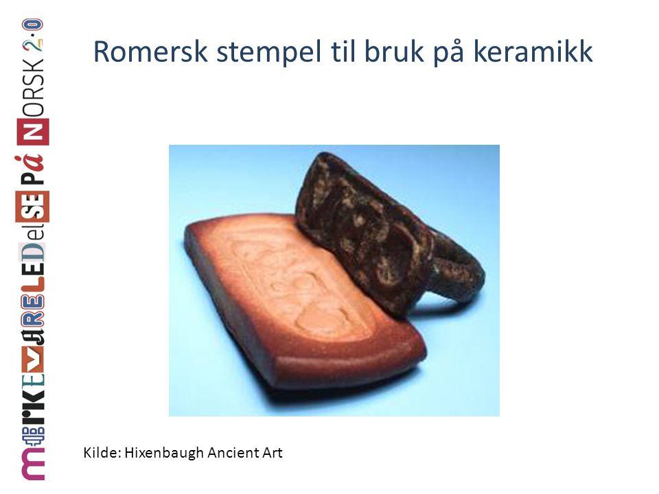 Romersk stempel til bruk på keramikk