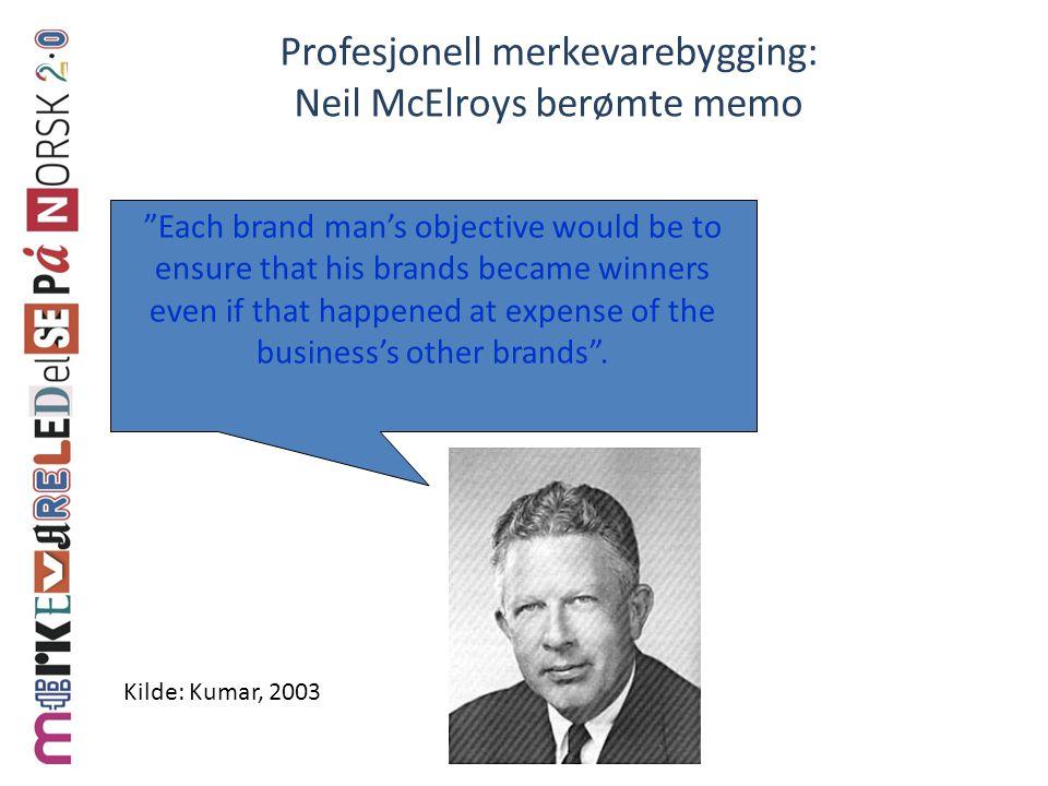 Profesjonell merkevarebygging: Neil McElroys berømte memo
