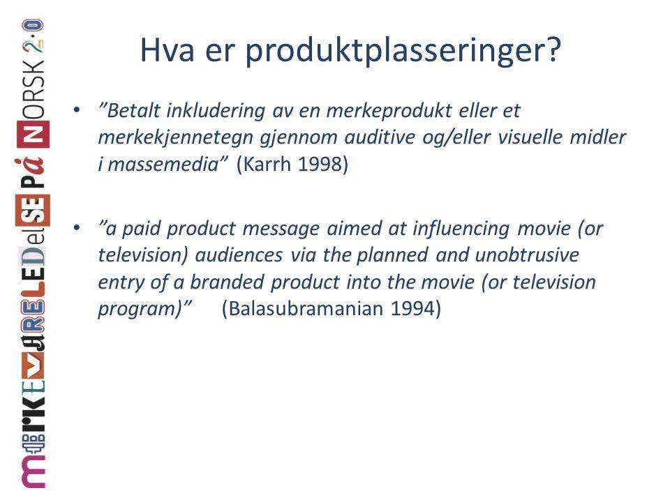 Hva er produktplasseringer