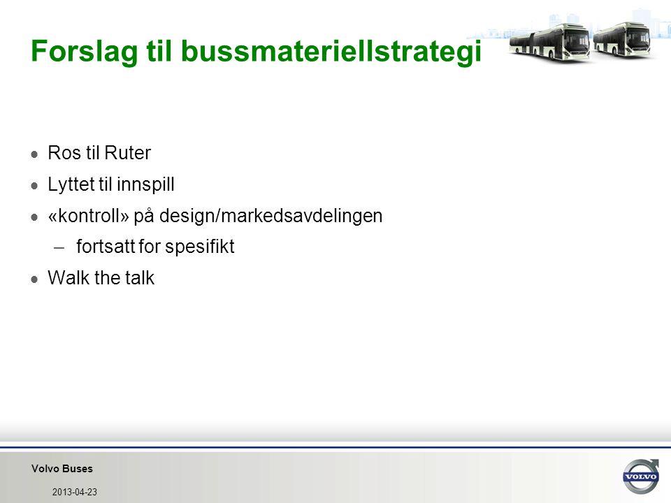 Forslag til bussmateriellstrategi