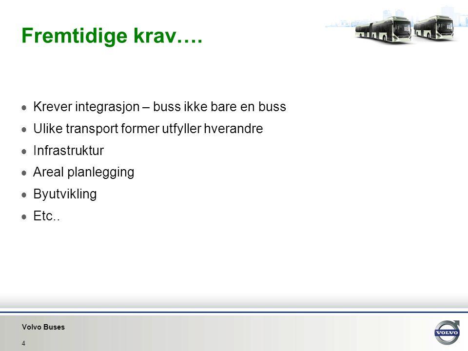Fremtidige krav…. Krever integrasjon – buss ikke bare en buss