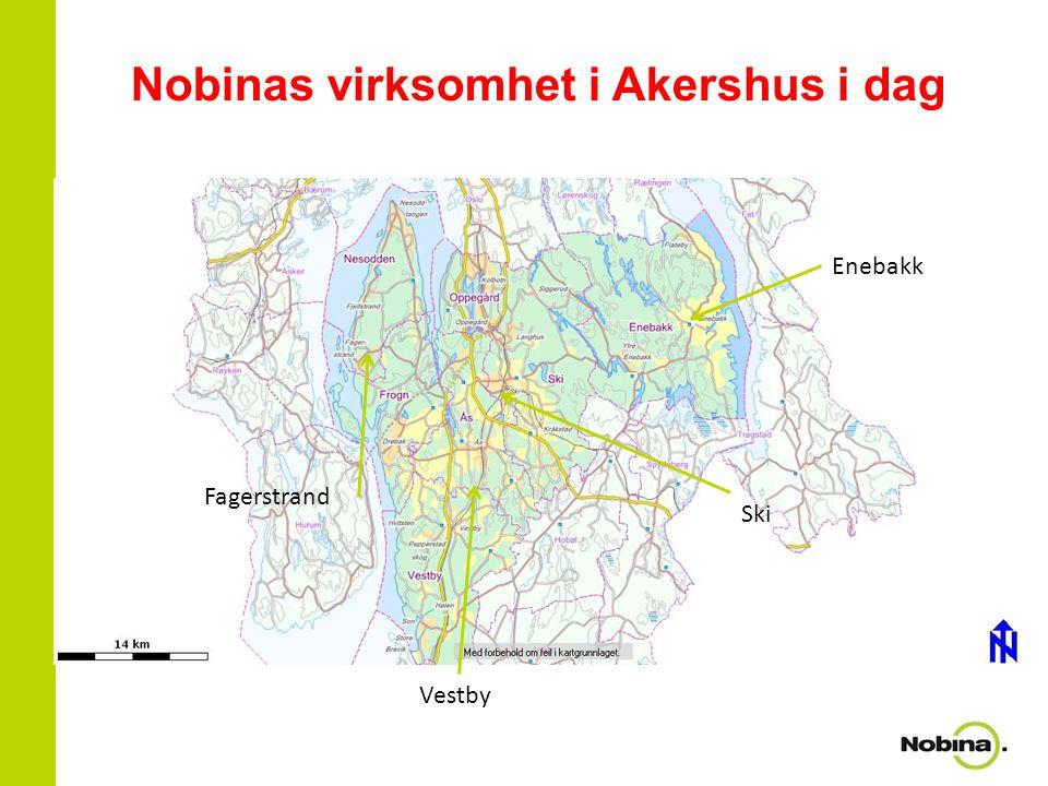 Nobinas virksomhet i Akershus i dag