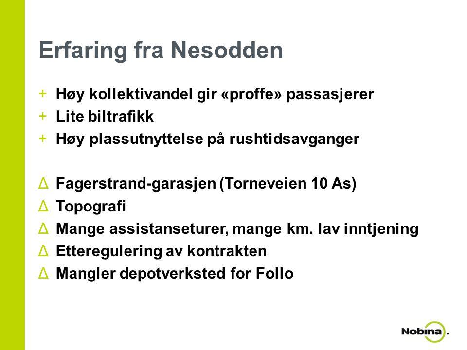 Erfaring fra Nesodden Høy kollektivandel gir «proffe» passasjerer