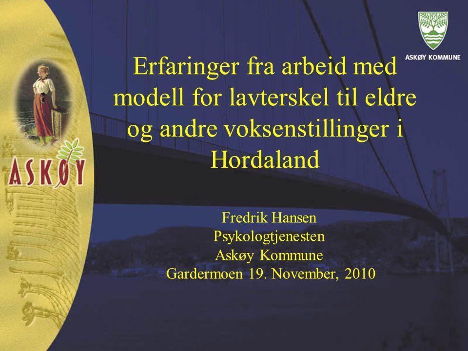 Erfaringer fra arbeid med modell for lavterskel til eldre og andre voksenstillinger i Hordaland