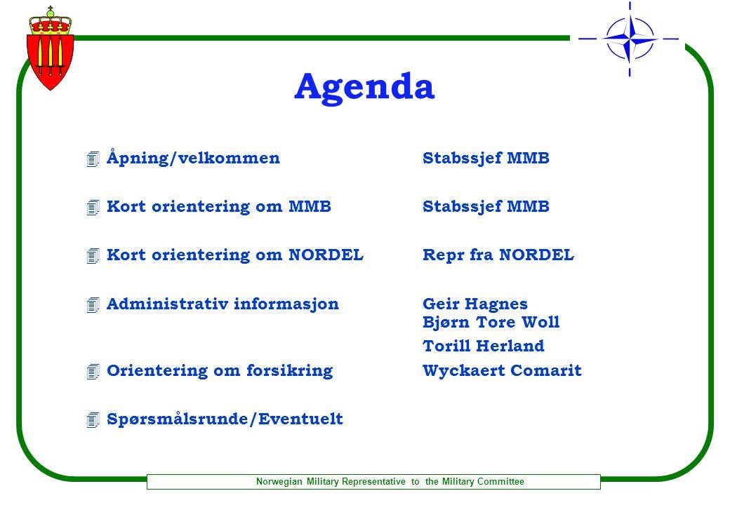 Agenda Åpning/velkommen Stabssjef MMB