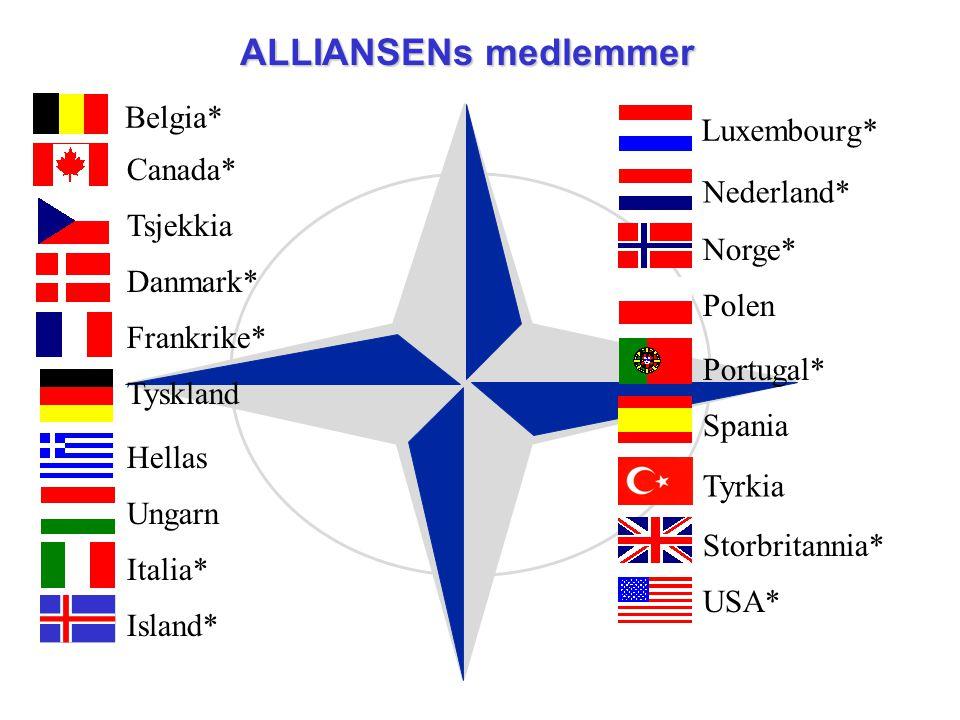 ALLIANSENs medlemmer Belgia* Luxembourg* Canada* Nederland* Tsjekkia