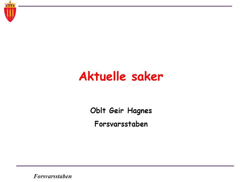 Oblt Geir Hagnes Forsvarsstaben