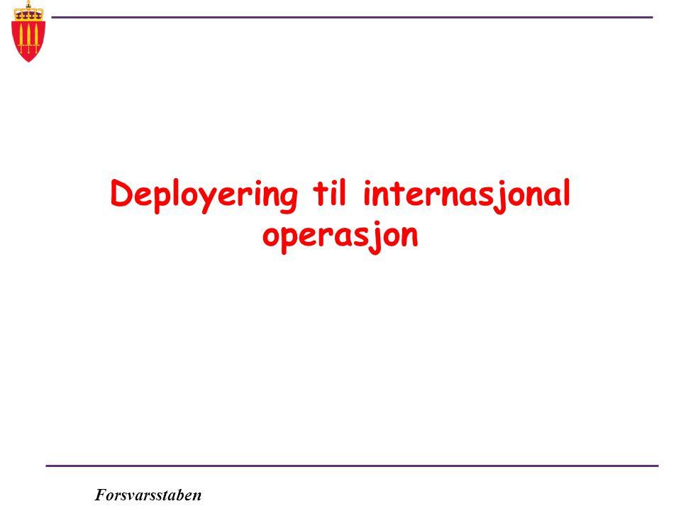 Deployering til internasjonal operasjon