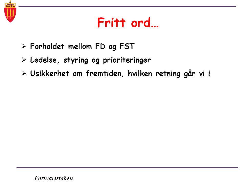 Fritt ord… Forholdet mellom FD og FST