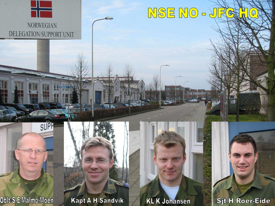 NSE NO - JFC HQ Kapt Å H Sandvik KL K Johansen Oblt S-E Malmø-Moen