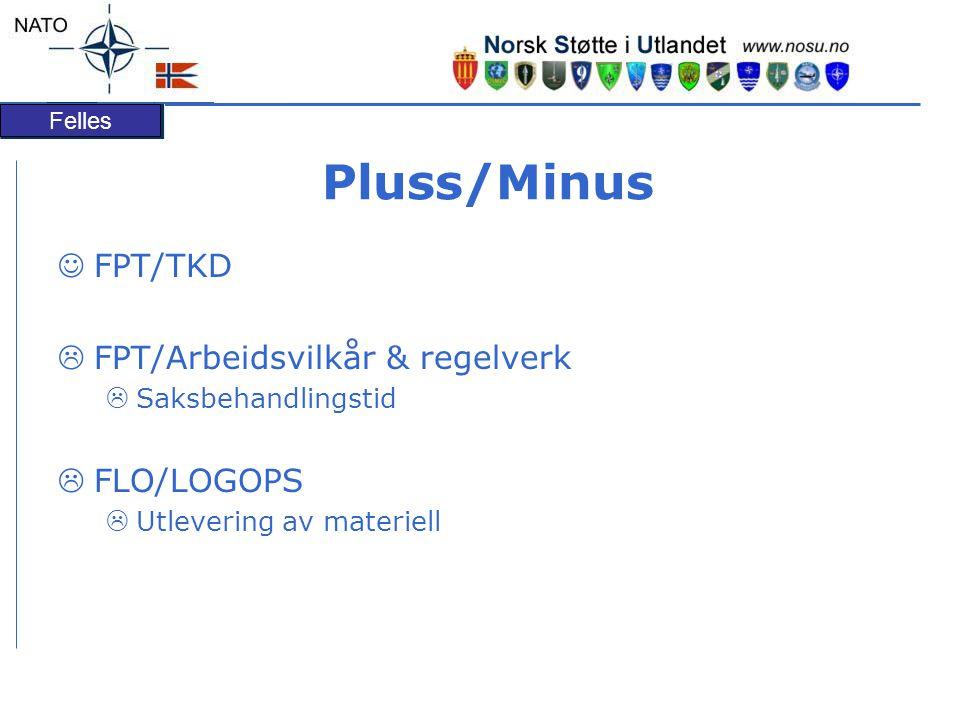 Pluss/Minus FPT/TKD FPT/Arbeidsvilkår & regelverk FLO/LOGOPS