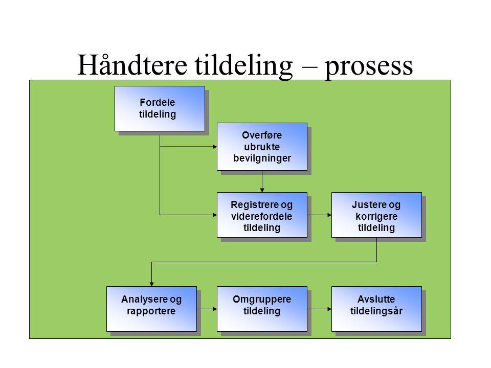 Håndtere tildeling – prosess
