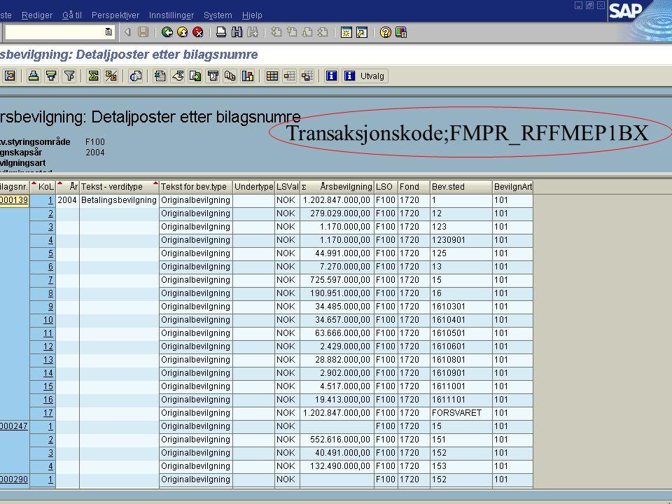 Transaksjonskode;FMPR_RFFMEP1BX
