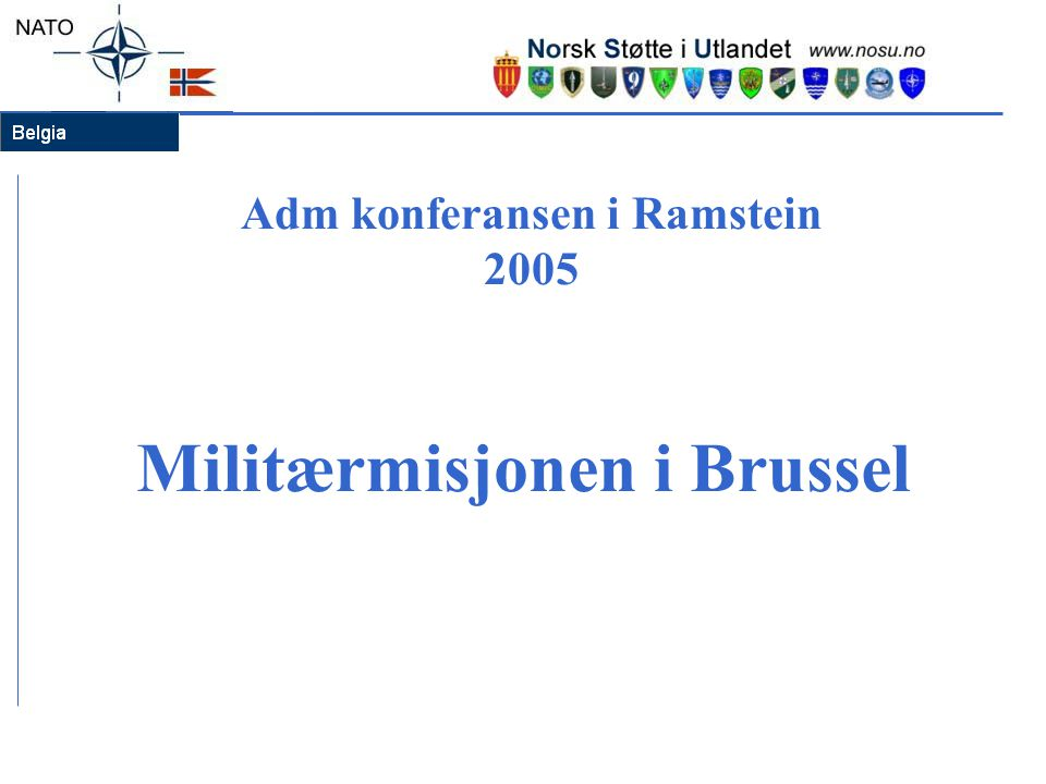 Adm konferansen i Ramstein 2005