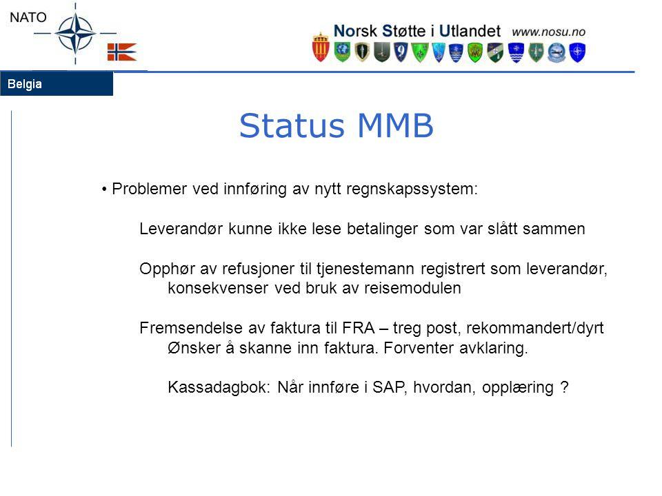 Status MMB Problemer ved innføring av nytt regnskapssystem: