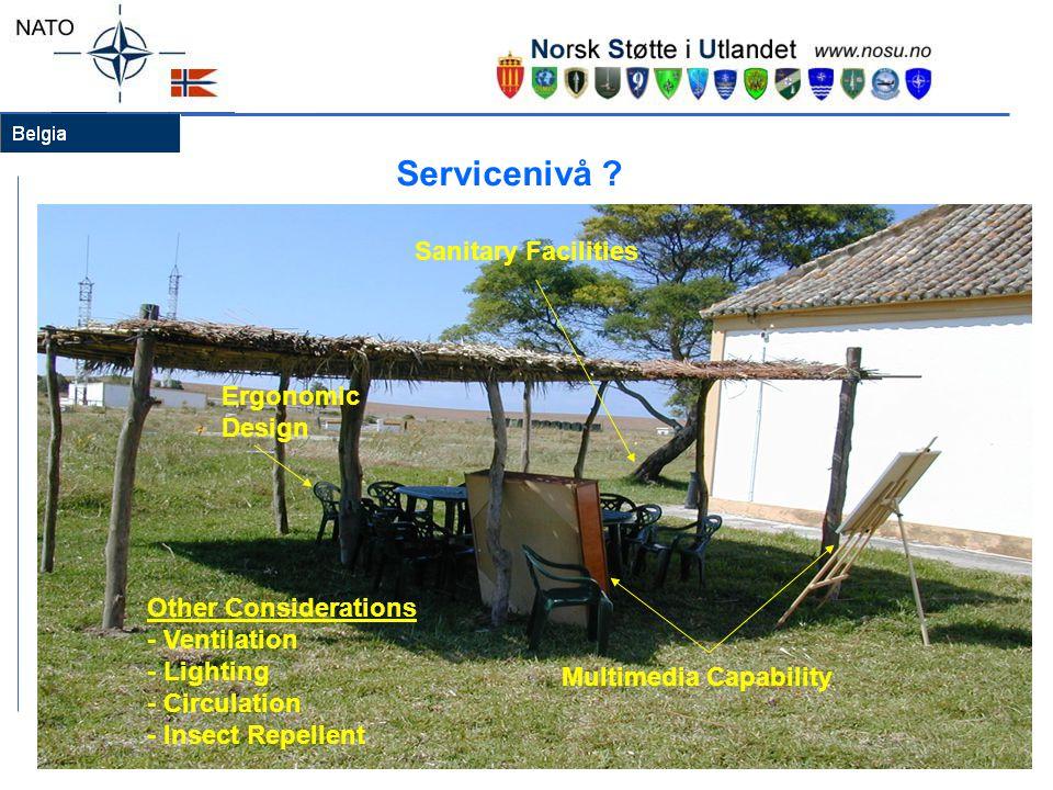 Servicenivå Sanitary Facilities Ergonomic Design