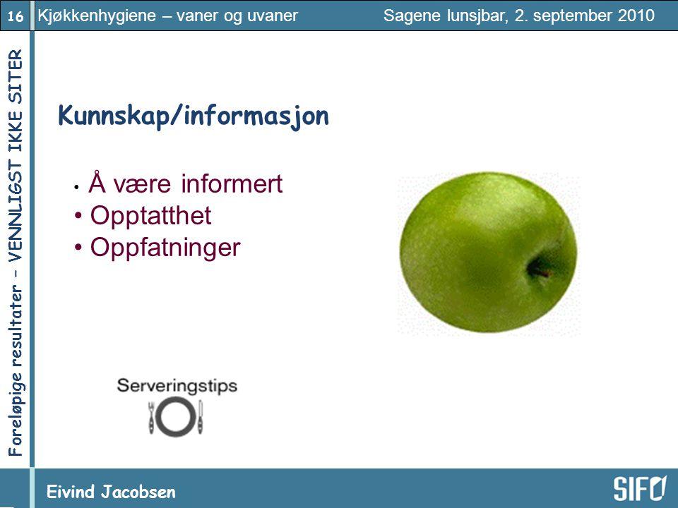 Kunnskap/informasjon