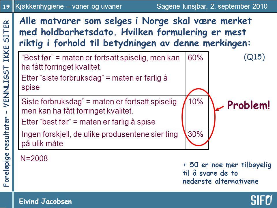 Alle matvarer som selges i Norge skal være merket med holdbarhetsdato