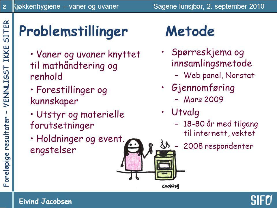 Problemstillinger Metode Spørreskjema og innsamlingsmetode